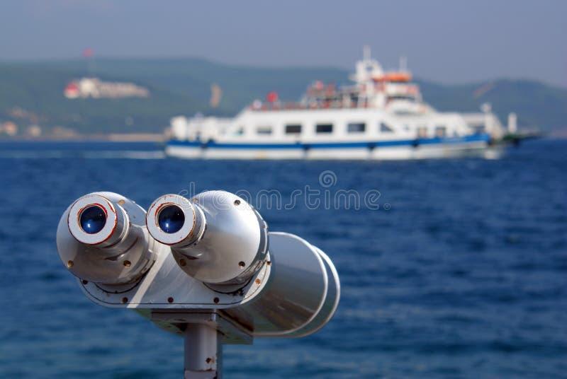 双眼看见的船 库存图片
