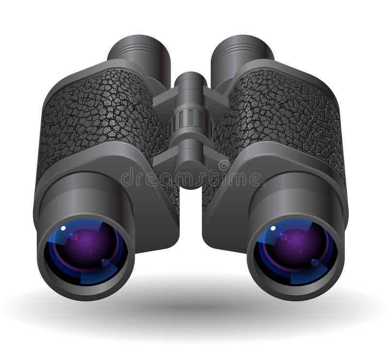双筒望远镜图标 皇族释放例证