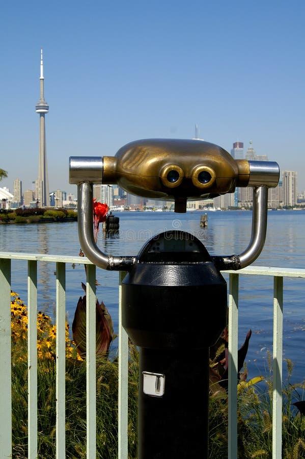 双筒望远镜多伦多 库存照片