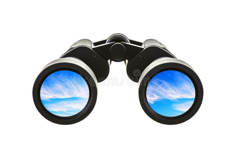 双筒望远镜有蓝天的 免版税库存图片