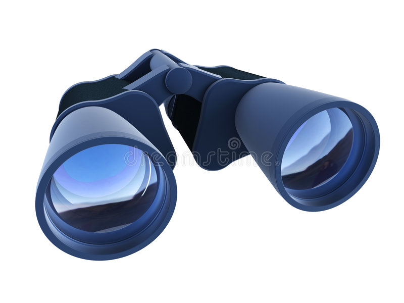 双筒望远镜查出 向量例证