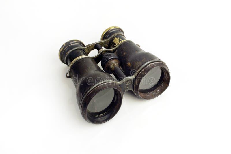 双筒望远镜老生锈 免版税库存图片