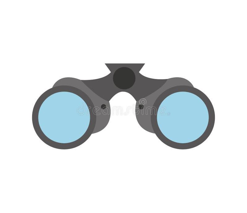 双筒望远镜设备被隔绝的象 库存例证