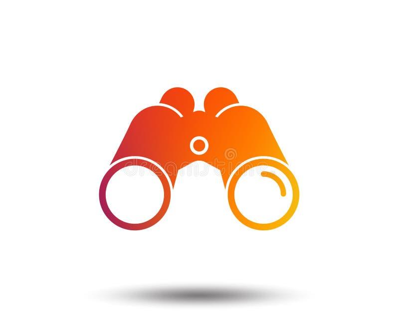 双筒望远镜象 发现软件标志标志 向量例证