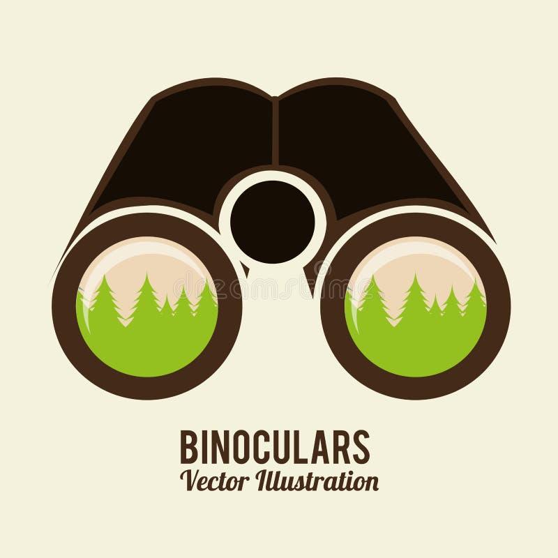 双筒望远镜象 向量例证