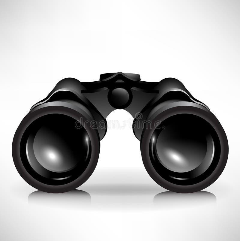 双筒望远镜选拔 皇族释放例证