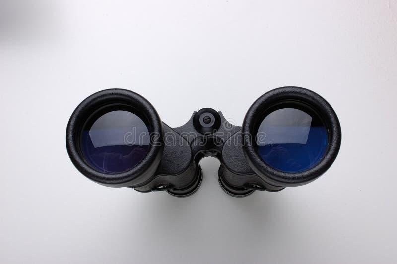 双筒望远镜黑色 库存图片