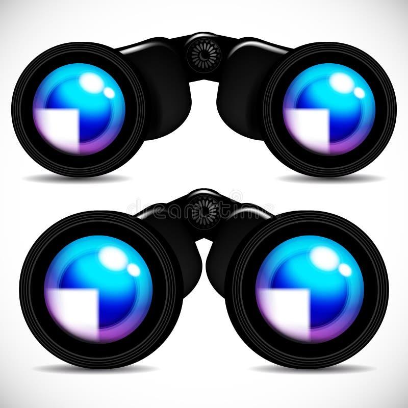 双筒望远镜 库存例证
