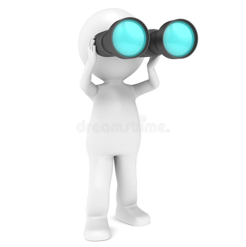 双筒望远镜 向量例证