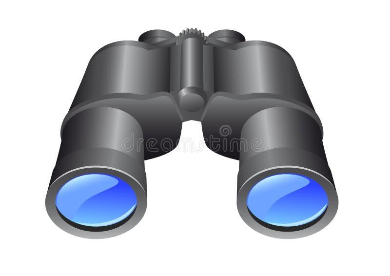 双筒望远镜 皇族释放例证
