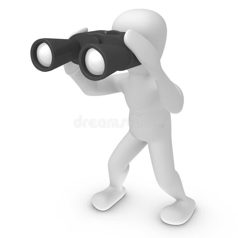 双筒望远镜borko 库存例证