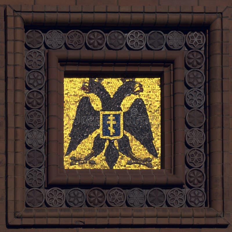 双老鹰朝向马赛克 库存图片