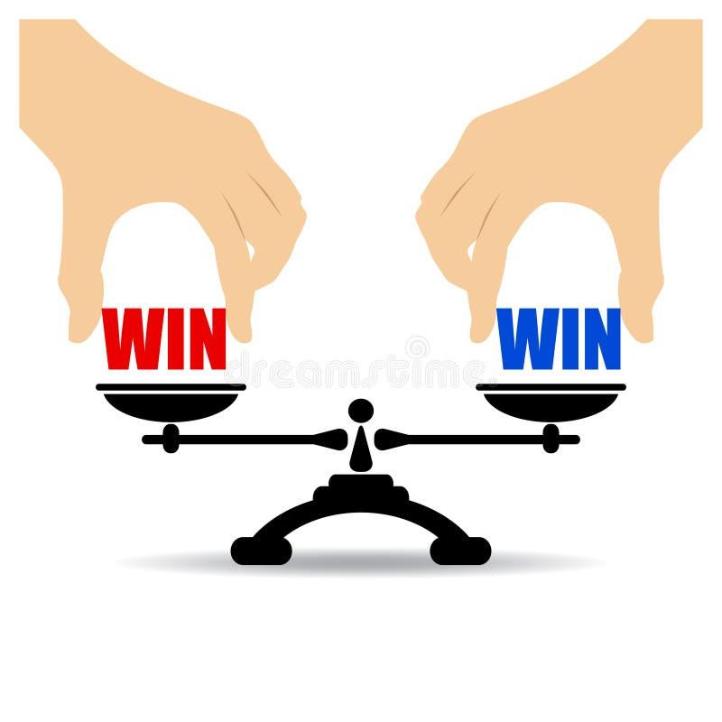双赢的概念 库存例证