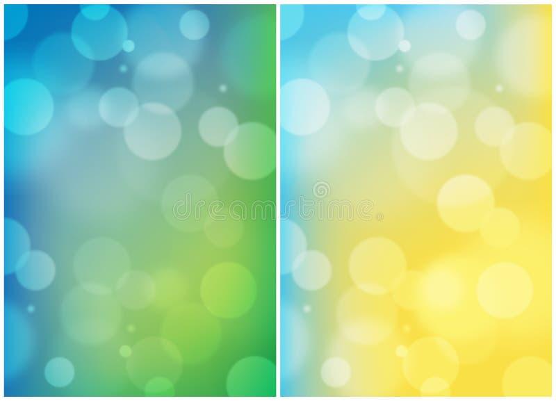 双重夏天上色抽象背景 库存例证