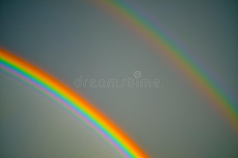 双重彩虹 库存照片