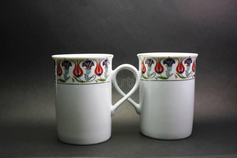 双重杯子 免版税图库摄影