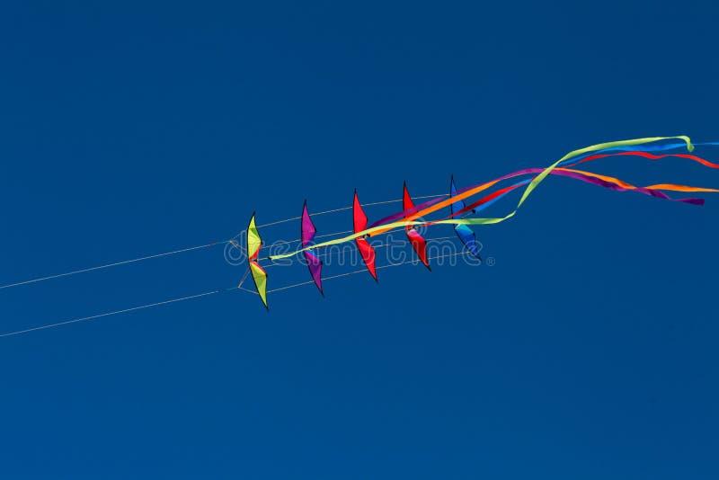 双重线特技风筝堆11 免版税库存照片