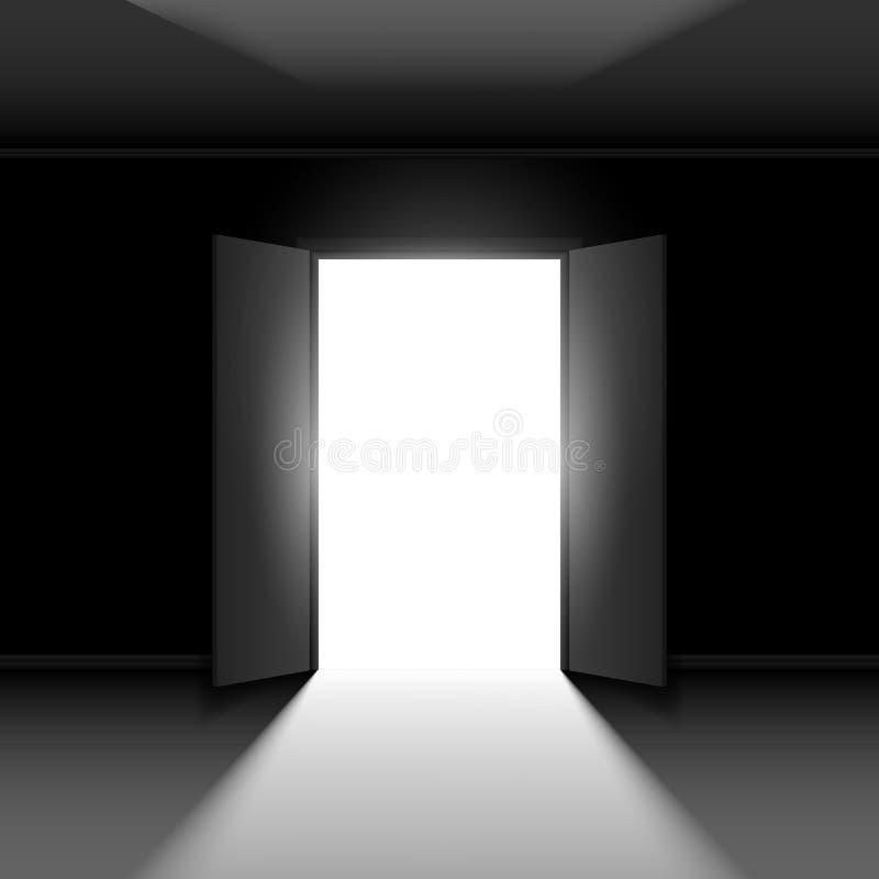 双重门户开放主义 库存例证