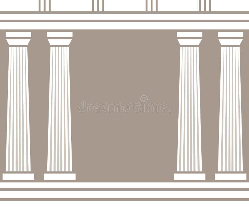 双重经典柱子在棕色背景形成弧光隔绝 皇族释放例证