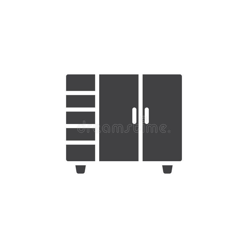 双门碗柜传染媒介象 向量例证