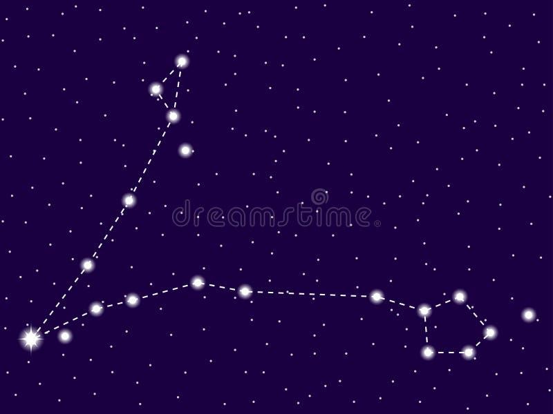 双鱼座星座 E 星和星系群 E ?? 库存例证
