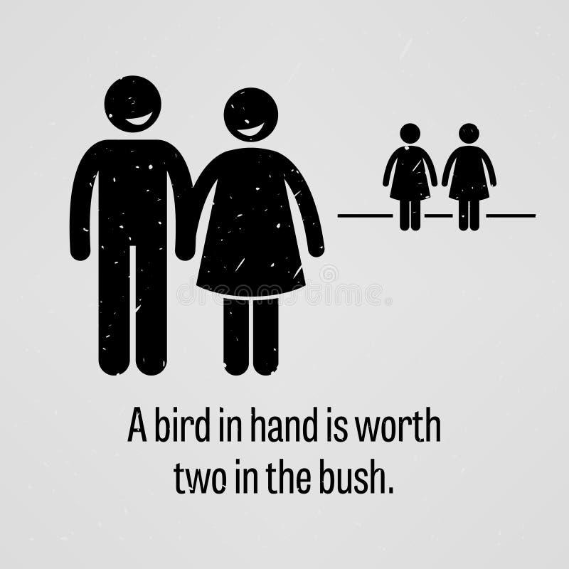 双鸟在林不如一鸟在手 皇族释放例证