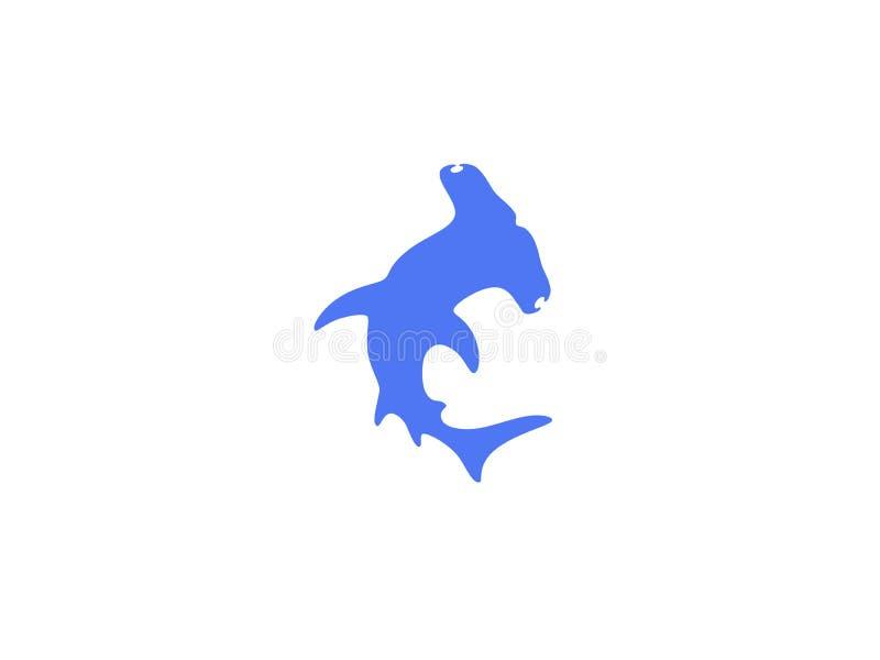 双髻鲨商标 向量例证