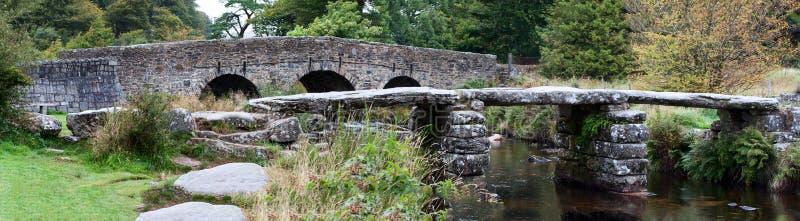双Dartmoor桥梁 免版税图库摄影