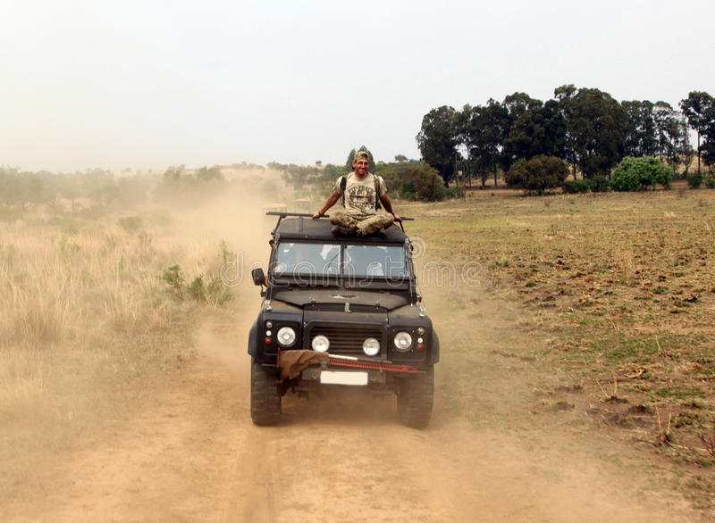 反偷猎的单位的武装的保护反对强盗的 免版税库存照片