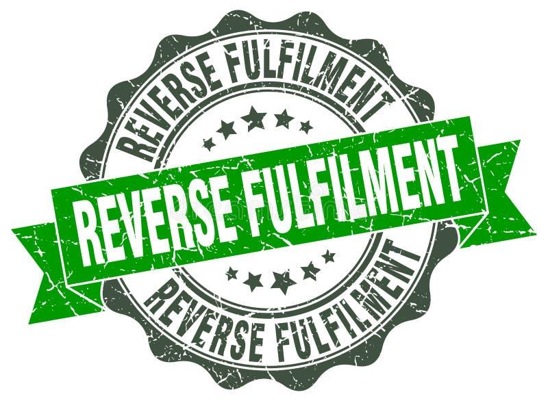 反向满额封印 印花税 向量例证