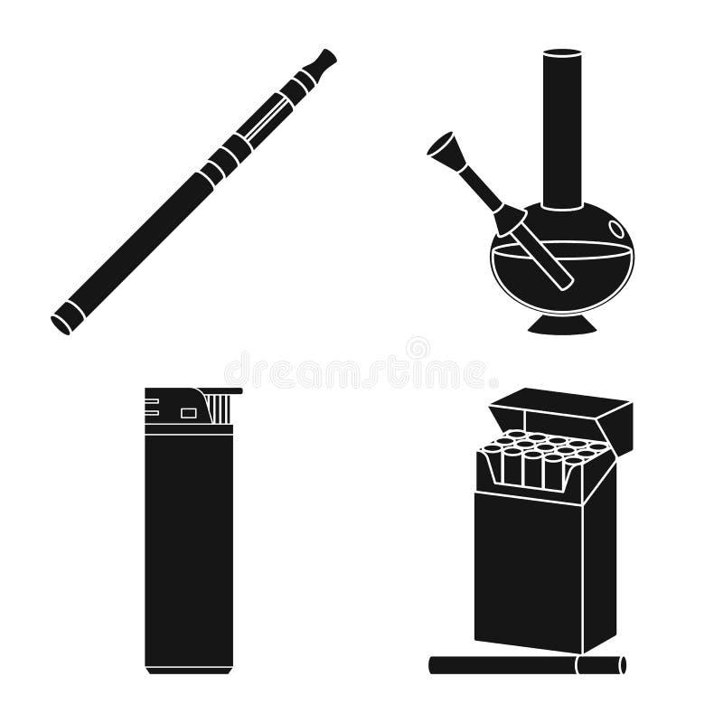 反和习性标志被隔绝的对象  反和烟草股票传染媒介例证的汇集 皇族释放例证