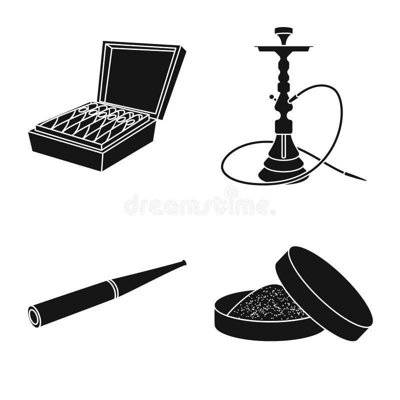 反和习性标志被隔绝的对象  反和烟草股票传染媒介例证的汇集 库存例证