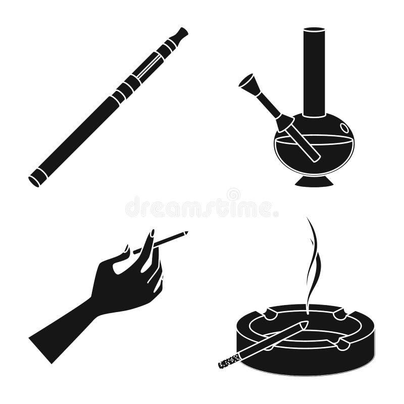 反和习性象的传染媒介例证 设置网的反和烟草股票标志 皇族释放例证