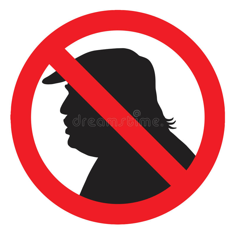 反唐纳德・川普总统剪影标志 传染媒介象例证