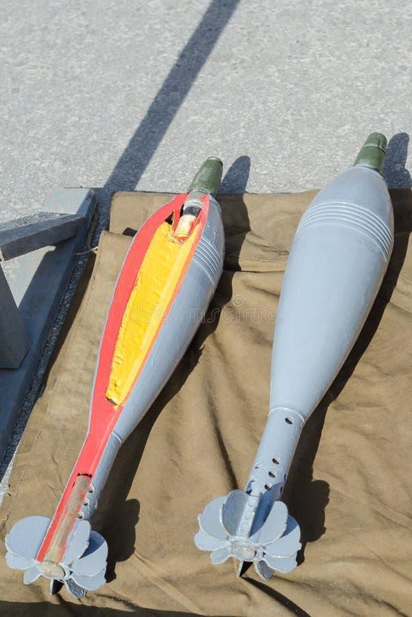 反在军火的坦克火箭推进式榴弹生产工厂 库存图片