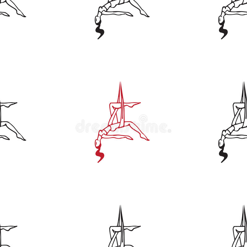 反地心引力的瑜伽姿势 向量例证