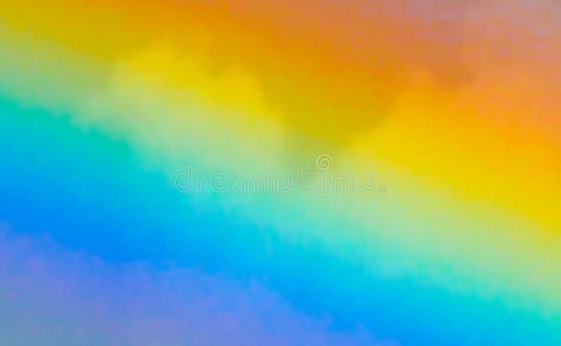 反对云彩背景的彩虹迷离 免版税图库摄影