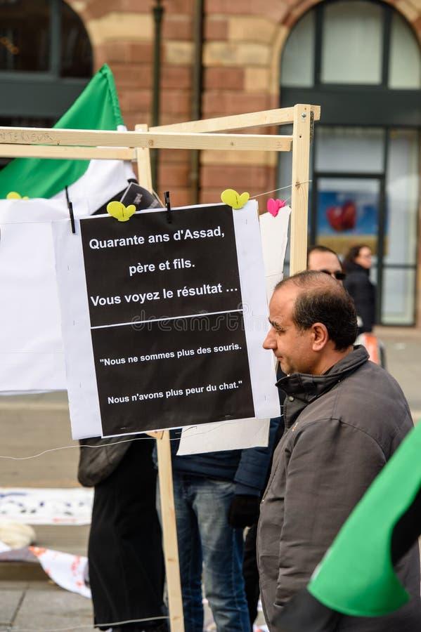 反对叙利亚战争的叙利亚犹太人散居地抗议 图库摄影