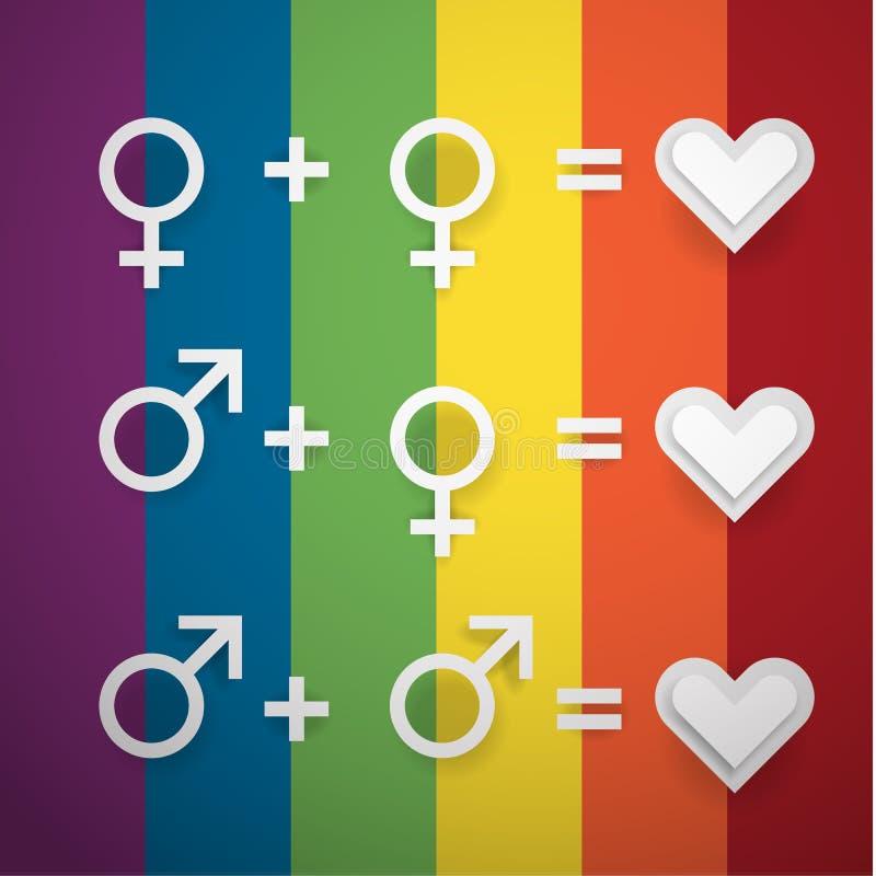 反对同性恋恐惧症的天 皇族释放例证