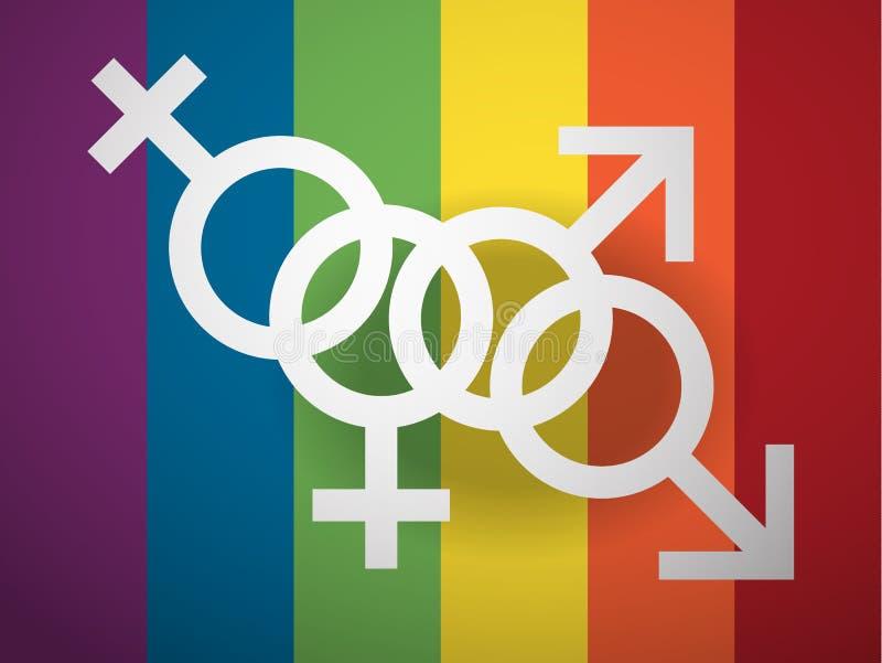 反对同性恋恐惧症的天 库存例证