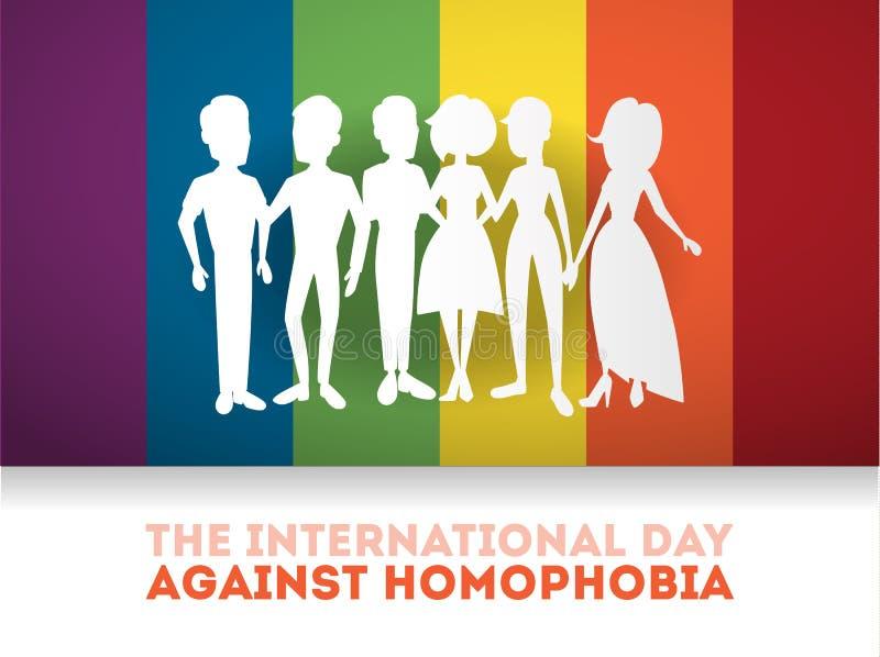 反对同性恋恐惧症的天 向量例证