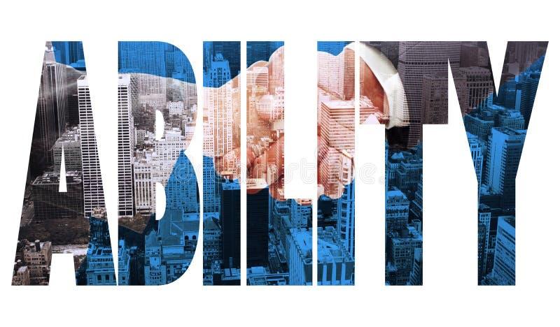 反对城市大角度看法的能力  免版税库存照片