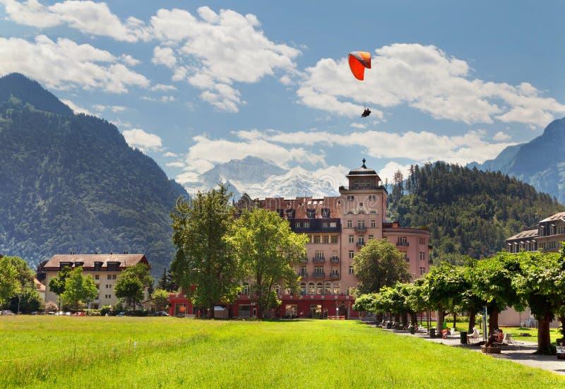 烟特勒根在夏天,瑞士 库存图片