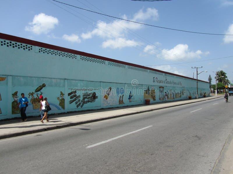 反对战争的Humoristas,圣克拉拉,古巴 免版税库存照片