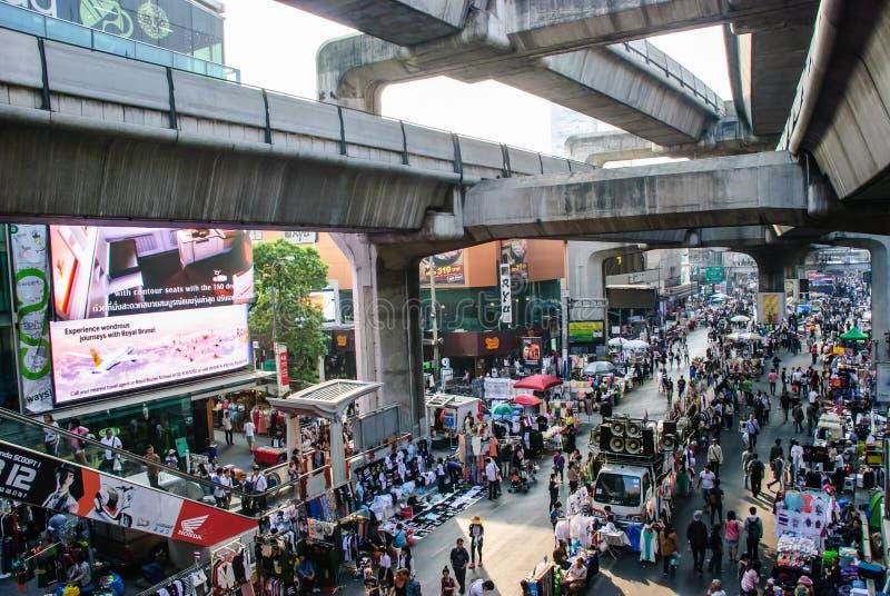 反对政府的泰国抗议者 免版税库存照片