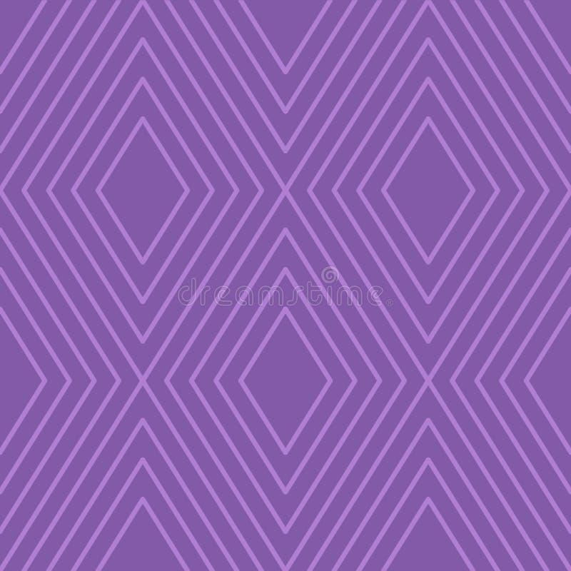 反对淡紫色背景的不尽的几何同心菱形样式主题的事件的 现代创造性的背景想法 皇族释放例证