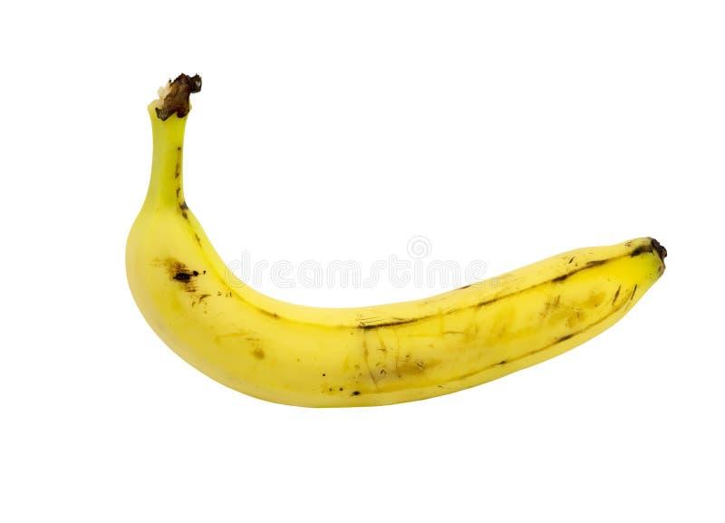 反对白色背景的唯一香蕉 免版税库存照片