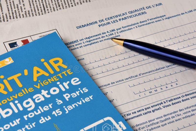 反对空气污染的小插图 免版税库存照片