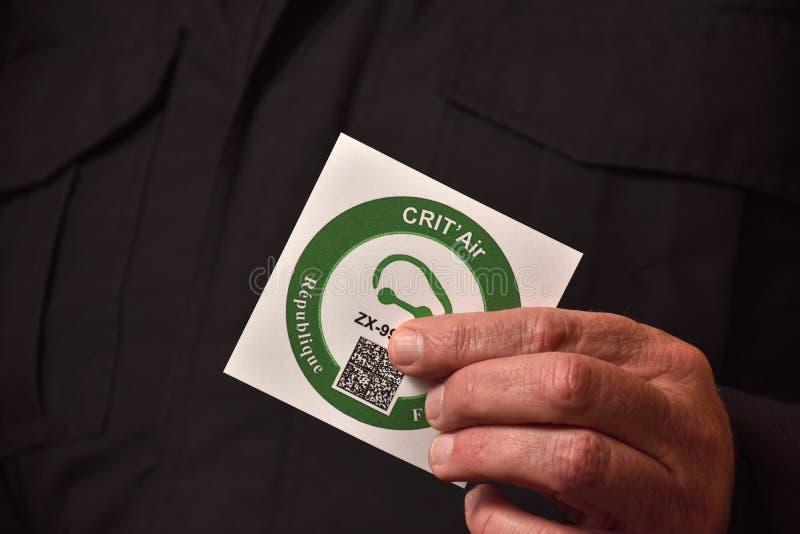 反对空气污染的小插图 库存照片