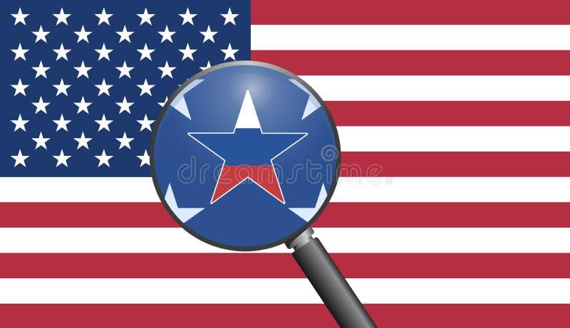 反对美国的俄国间谍活动 库存例证